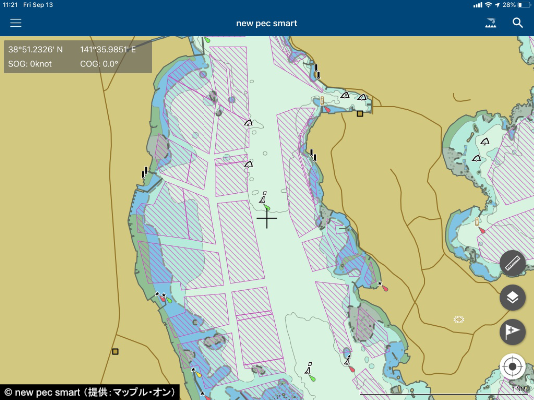 A new pec smart map showing the location of fishing nets.
