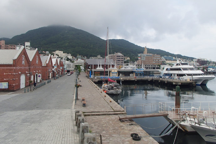A photo of central Hakodate harbor